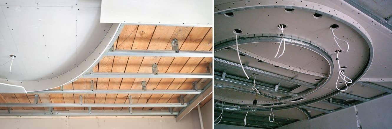 Двухуровневый потолок из гипсокартона своими руками - схемы, чертежи, инструкция