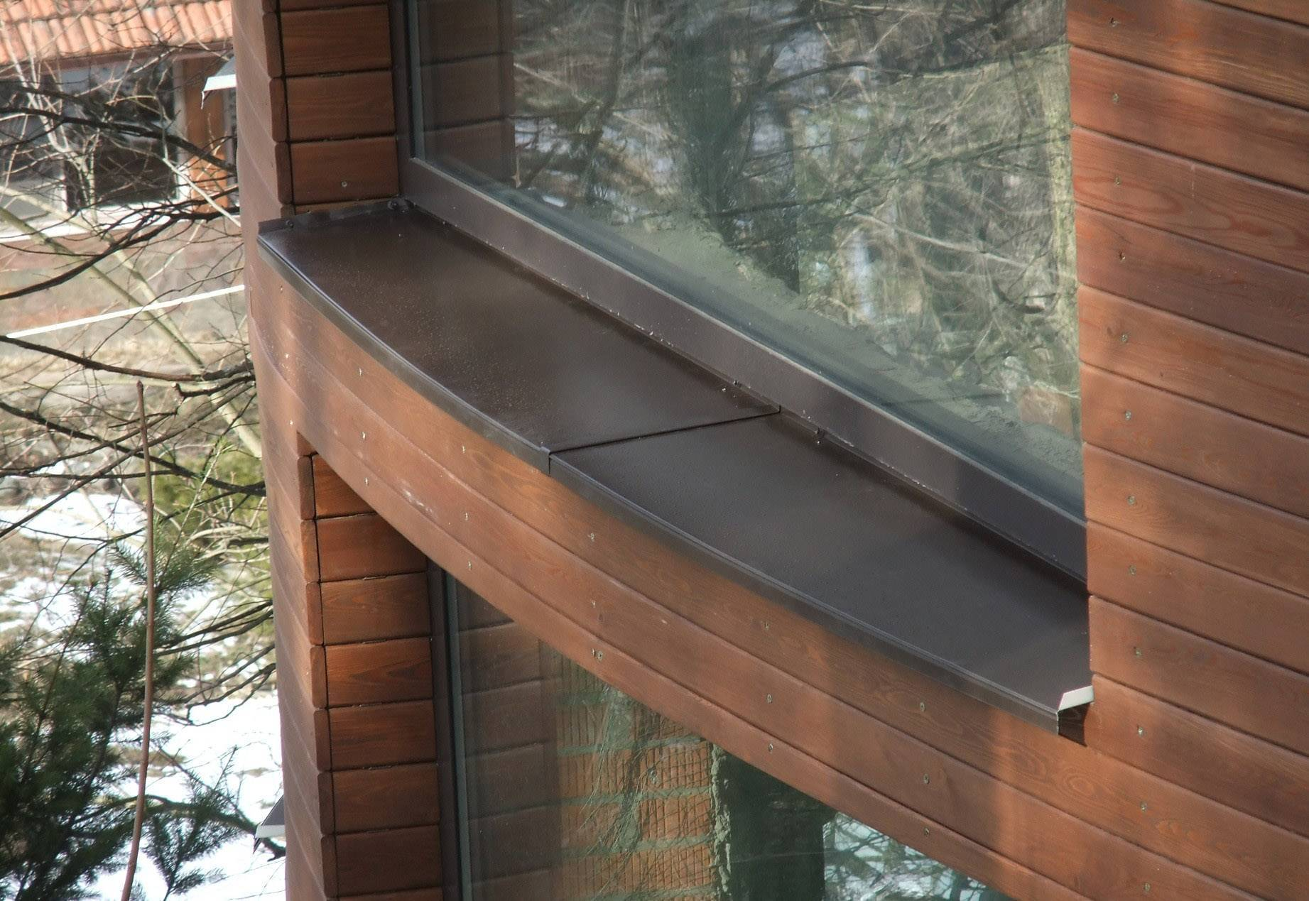 Установка отливов на окна: пластиковые, деревянные, металлические