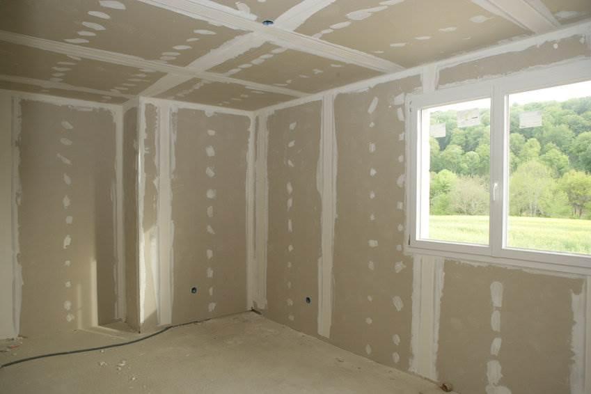 Внутренняя обшивка гипсокартоном каркасного дома