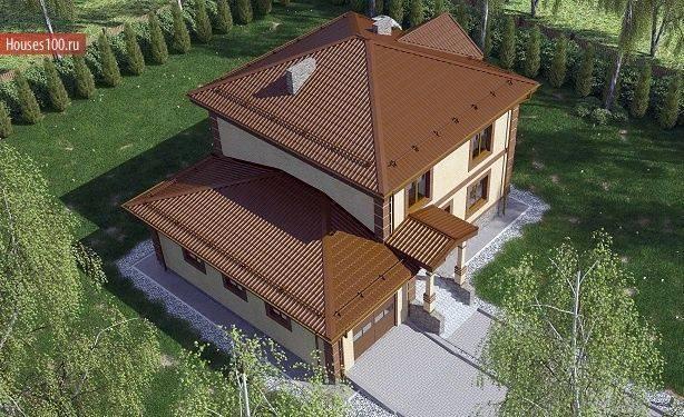 Проекты коттеджей из кирпича с цокольным этажом и дома с гаражом