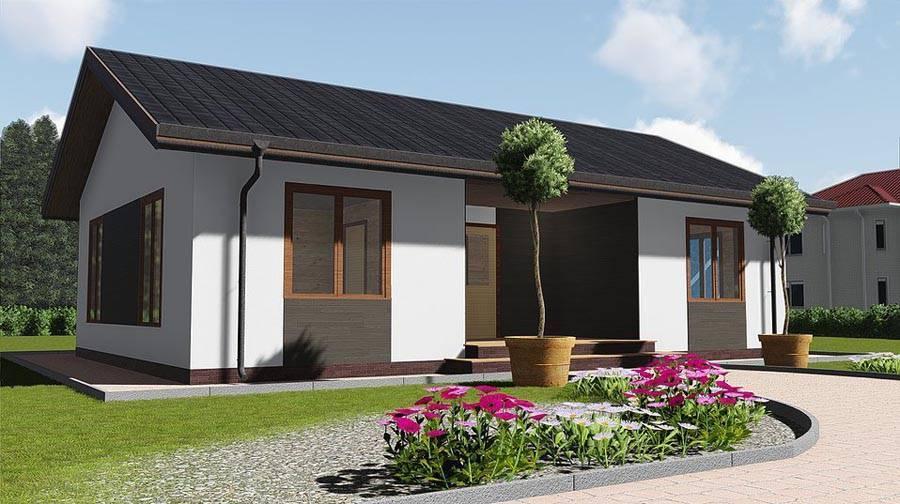 Дома с односкатной крышей: фото проектов, схем и чертежей одноэтажных и двухэтажных домов из каркаса и в финском стиле