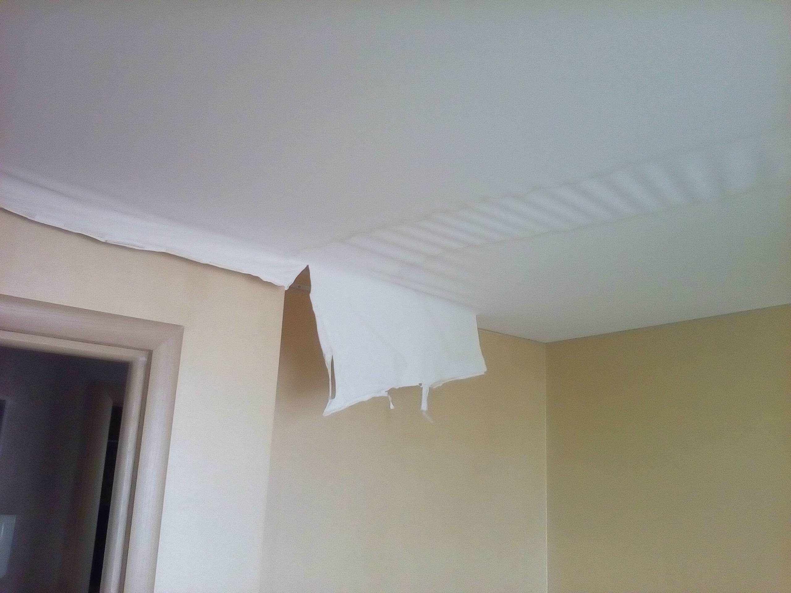 Перетяжка потолка - как перетянуть натяжной потолок своими руками