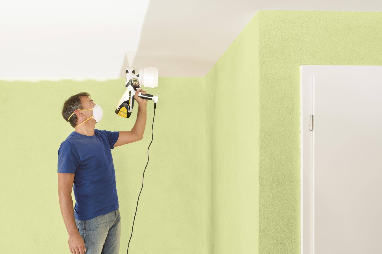 ????покраска потолка водоэмульсионной краской краскопультом и ее стоимость - блог о строительстве