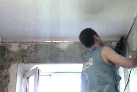Натяжной потолок своими руками — проектирование, выбор дизайна и монтаж натяжного потолка