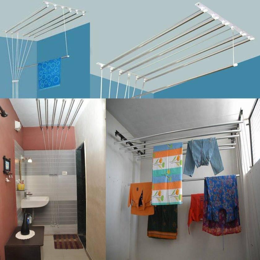 Потолочные сушилки для белья — особенности выбора конструкции и советы по монтажу (115 фото)