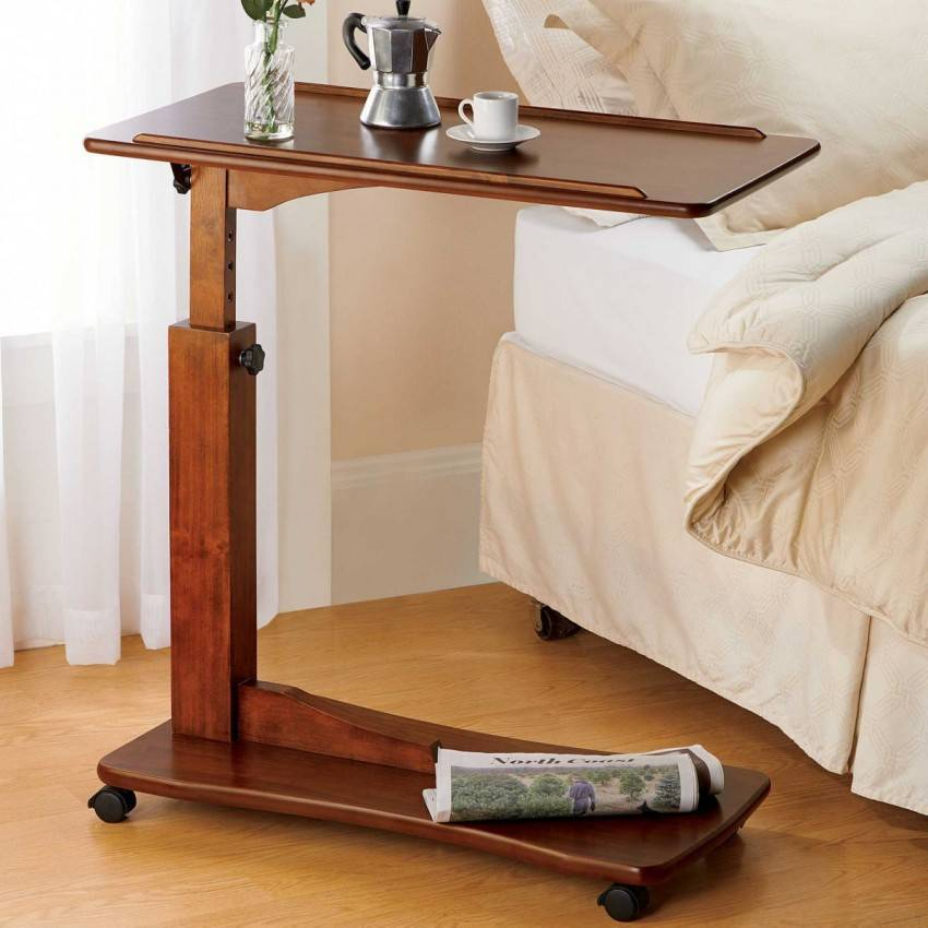 Столик для завтрака в постель своими руками: выбор материалов, пошаговая инструкция