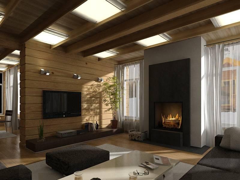 Дома из клееного бруса в стиле хай-тек: дизайн и интерьер
