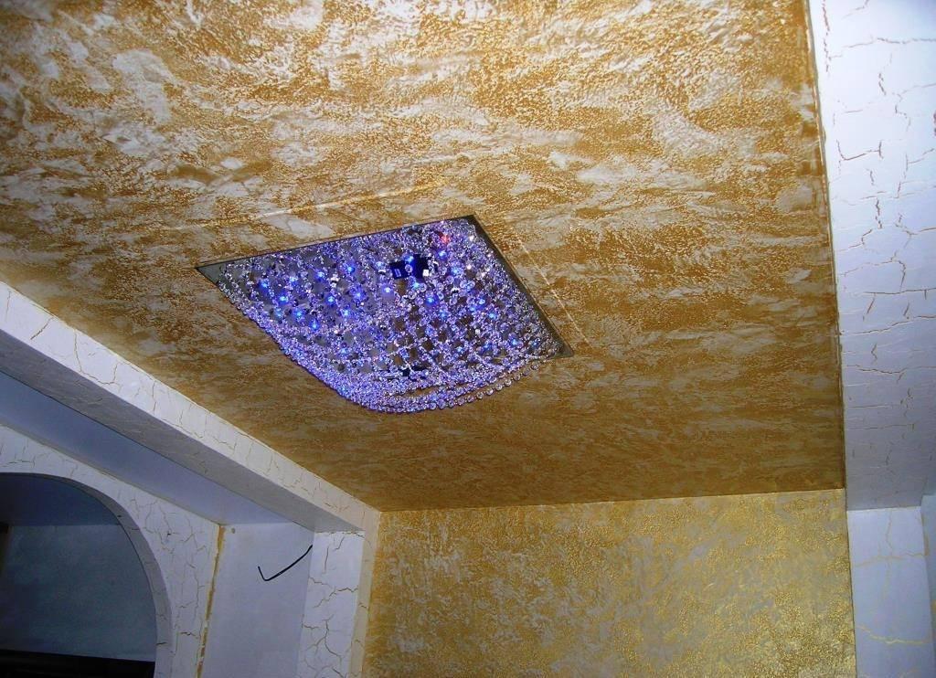 Декоративная штукатурка потолка: свойства, виды, отзывы