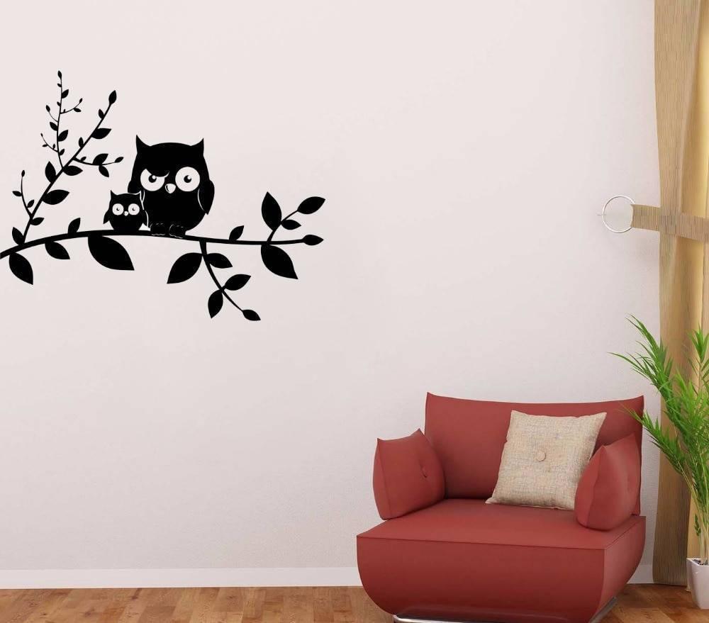 Декоративные наклейки для интерьера на стены +50 фото примеров