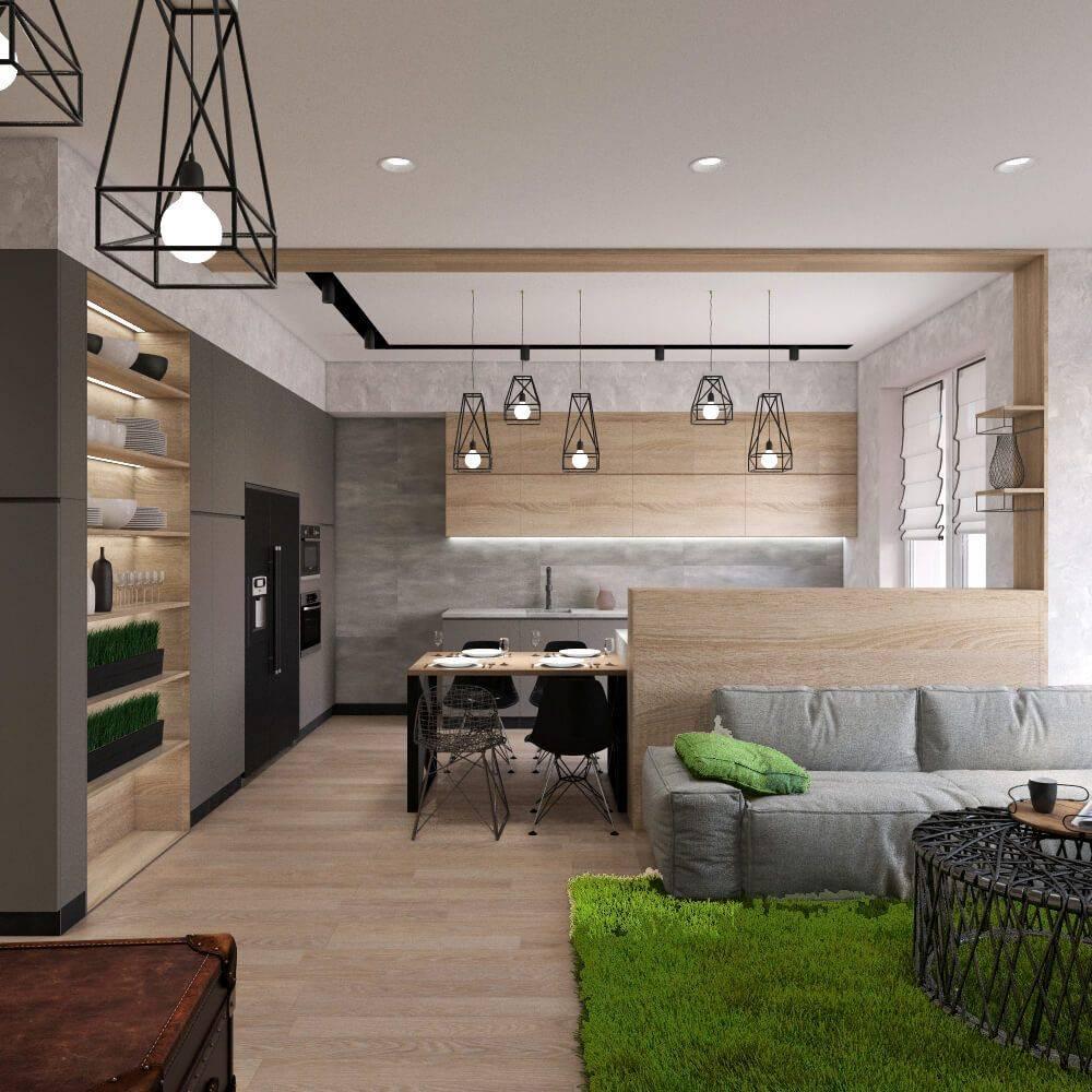Кухня-гостиная в стиле лофт (25 фото): лучшие примеры интерьеров, мебели и отделки