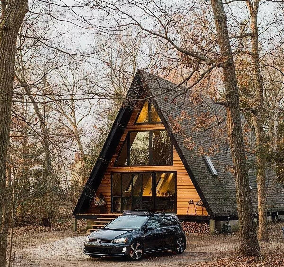 А-образный дом-шалаш своими руками: строительство, цена, фото