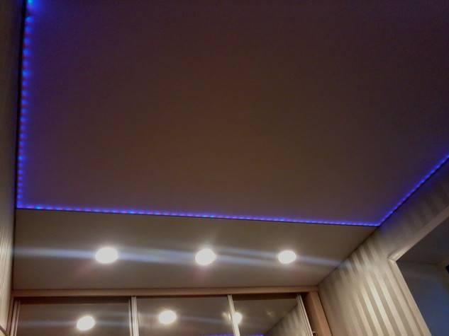 Натяжной потолок со светодиодной подсветкой в москве
