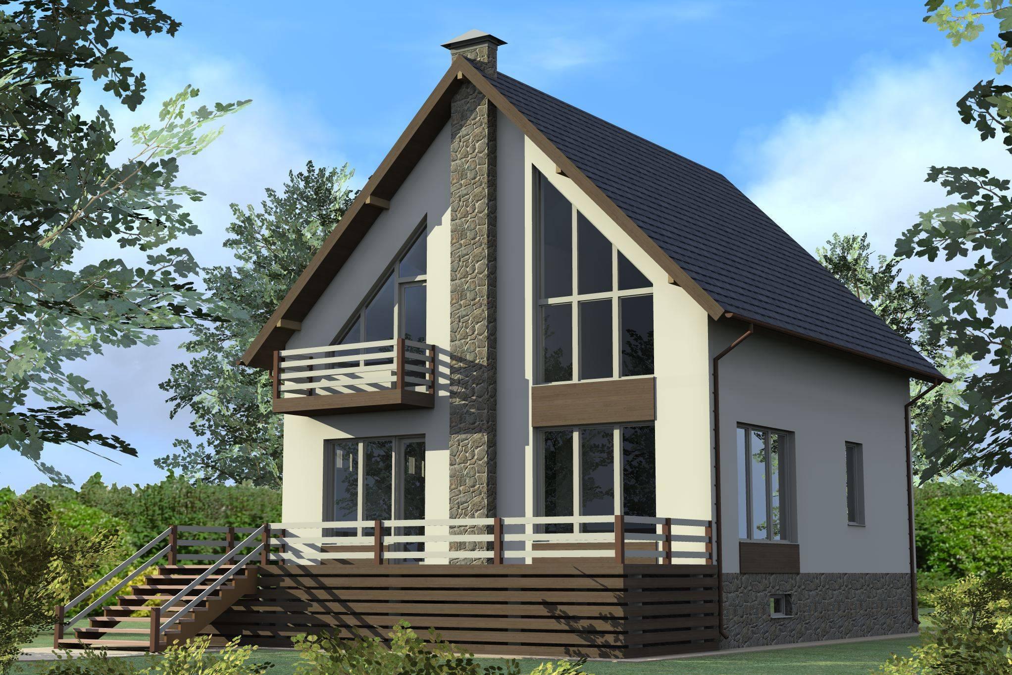 Двухэтажный дом из газобетона - проекты домов в 2 этажа