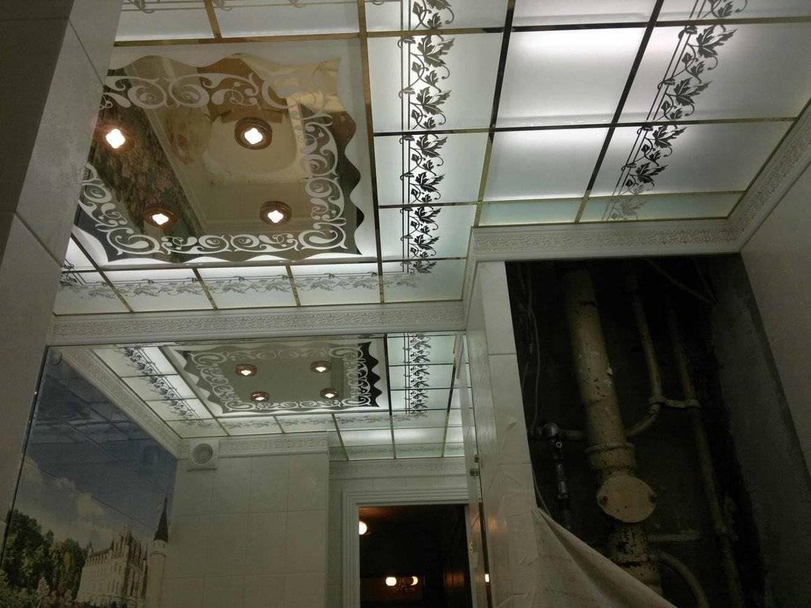 Зеркальный потолок в спальне - виды, особенности и фото