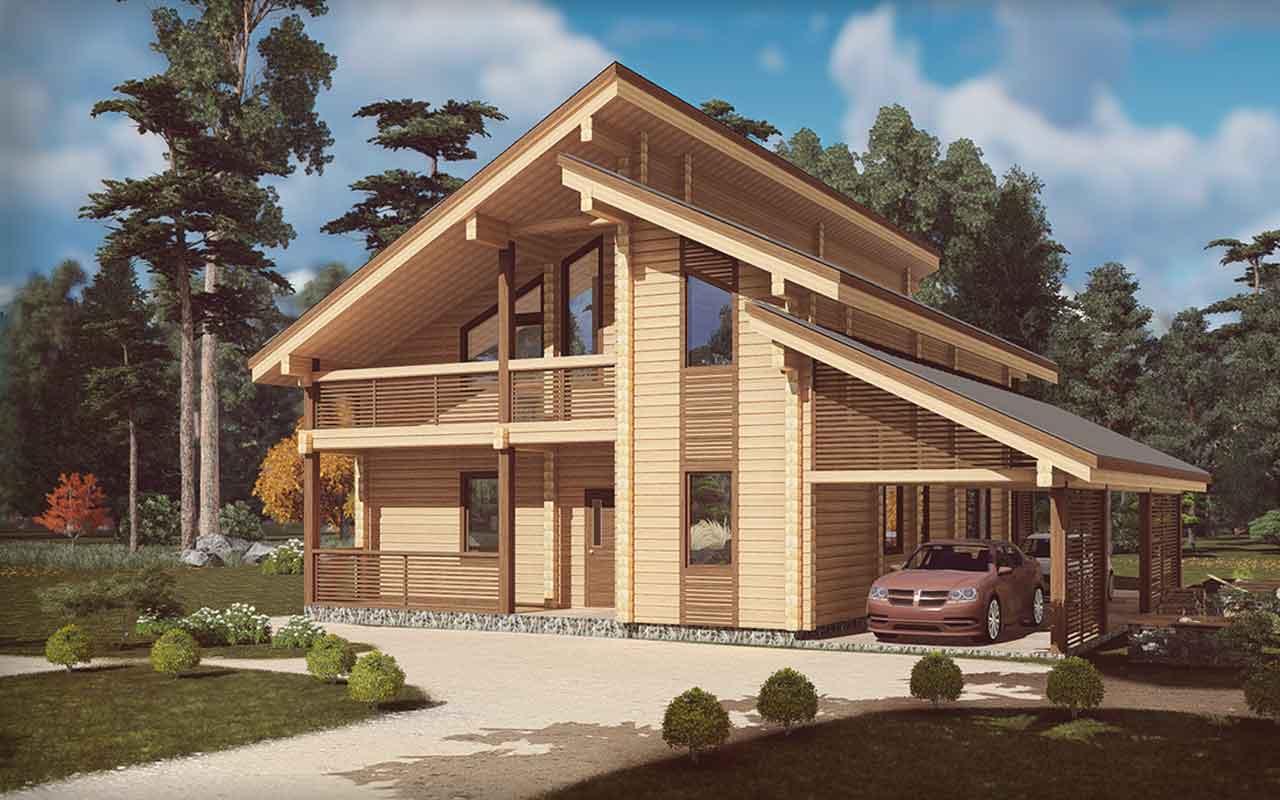 Шале уют - строительство дома из бруса за 8093425руб под ключ   русский стиль