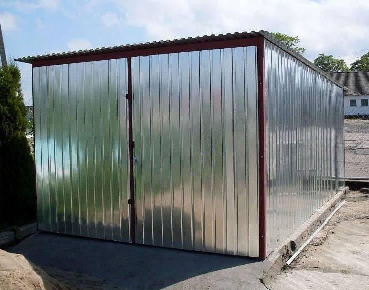 Строим гараж из профнастила своими руками