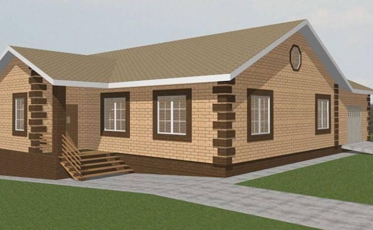 Одноэтажный дом из пеноблоков: проекты под ключ