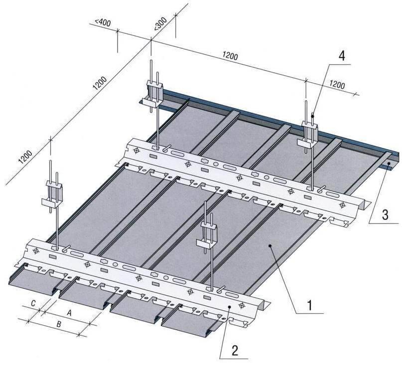 Как разобрать реечный потолок аккуратно?