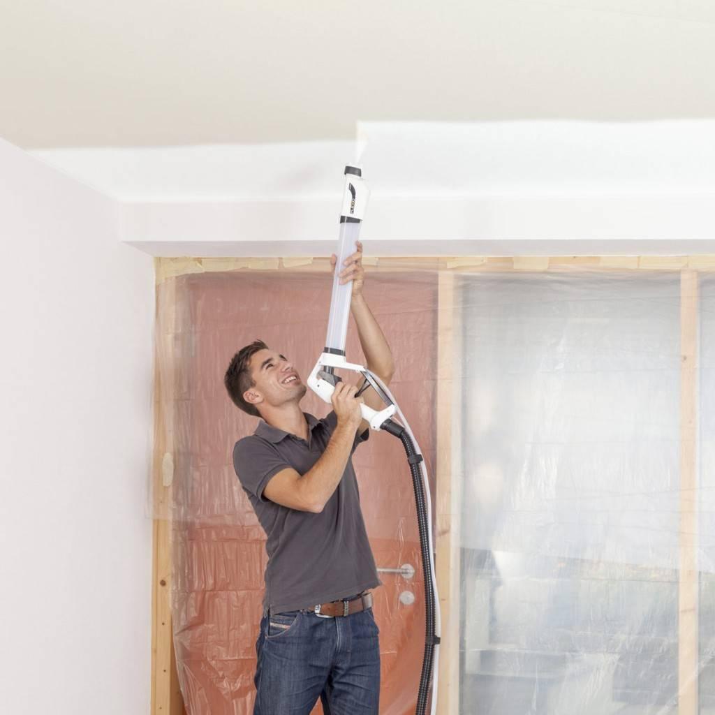 Покраска потолка краскопультом водоэмульсионной краской и стен: цена компрессоров и видео