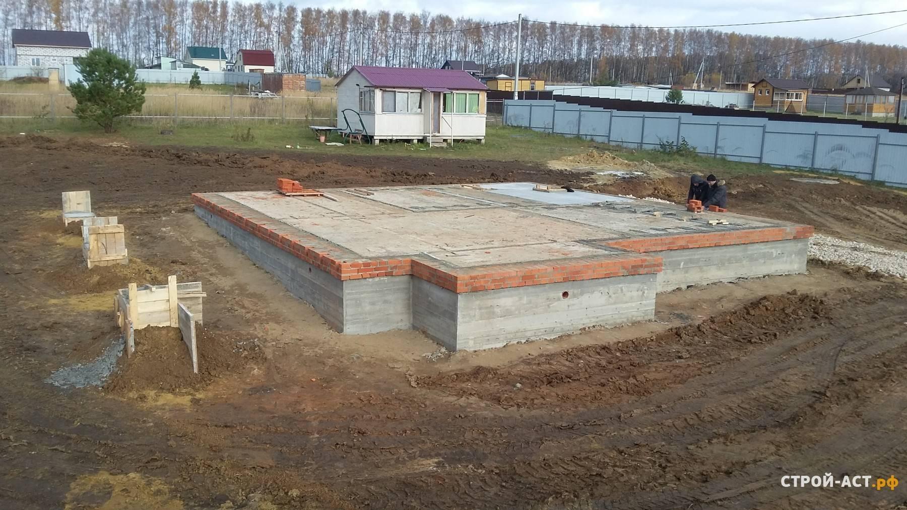 Монолитная бетонная плита на ленточном фундаменте - блог о строительстве