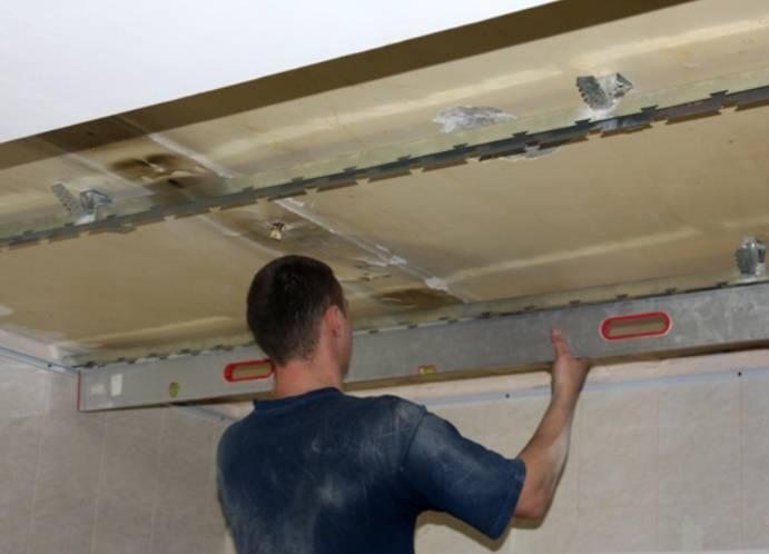 Правильный демонтаж реечного потолка
