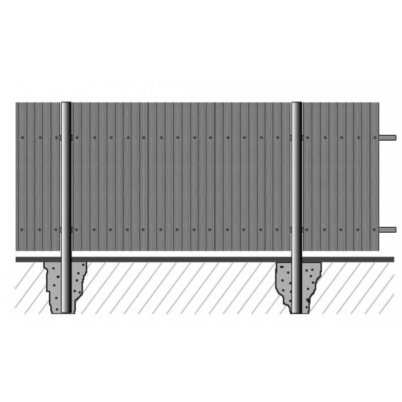 Забор из профлиста на неровном участке с уклоном: как построить на склоне, фото и видео