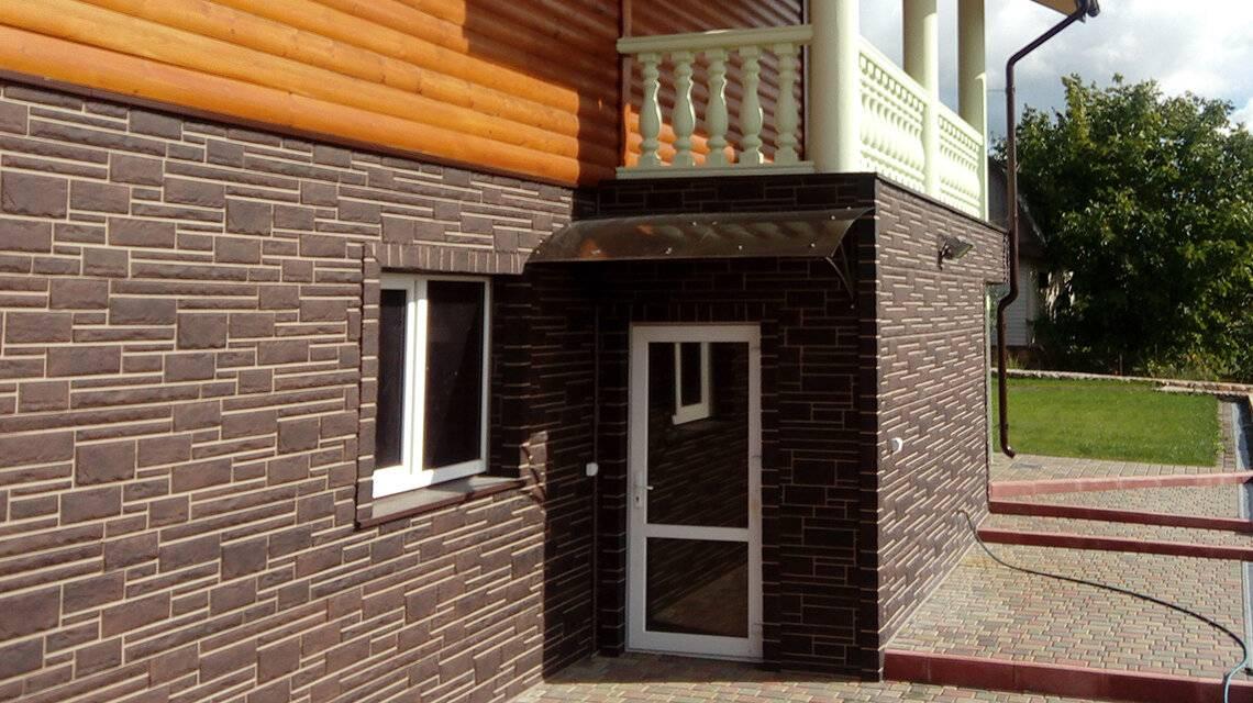 Облицовка фасада дома пластиковыми панелями под камень: техника монтажа