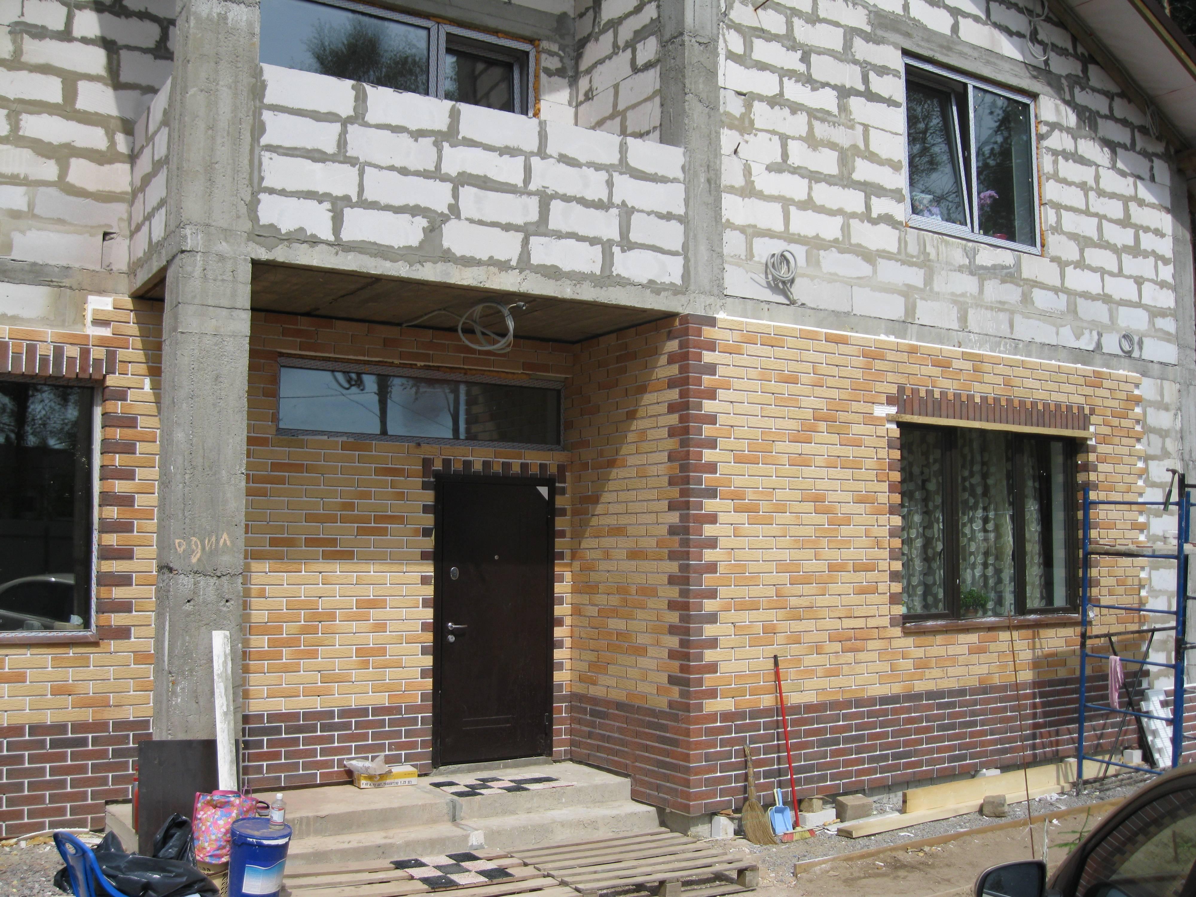 Все об отделке фасада дома из газобетона