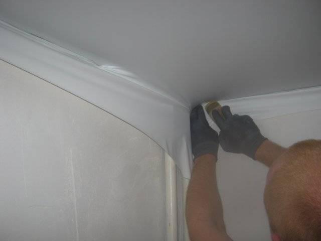 Натяжной потолок своими руками без нагрева