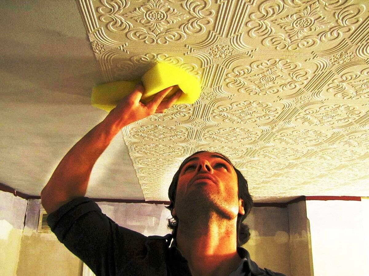 Как и чем помыть потолочную плитку. как и чем отмыть потолочную плитку из пенопласта на кухне? инструменты и материалы для работы