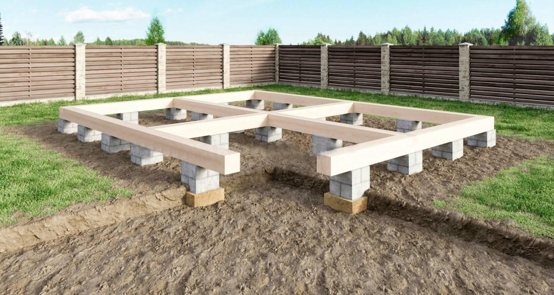 Фундамент для загородного дома:  виды и методы монтажа
