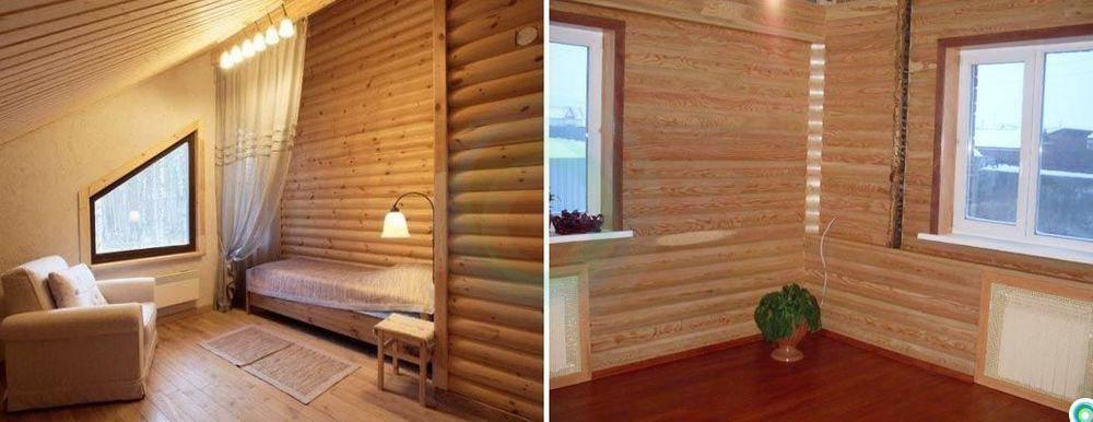 Показать интерьеры гостиной домов обшитые блок хаусом. блок-хаус для внутренней отделки: идеи дизайна комнат. сборка или установка каркаса