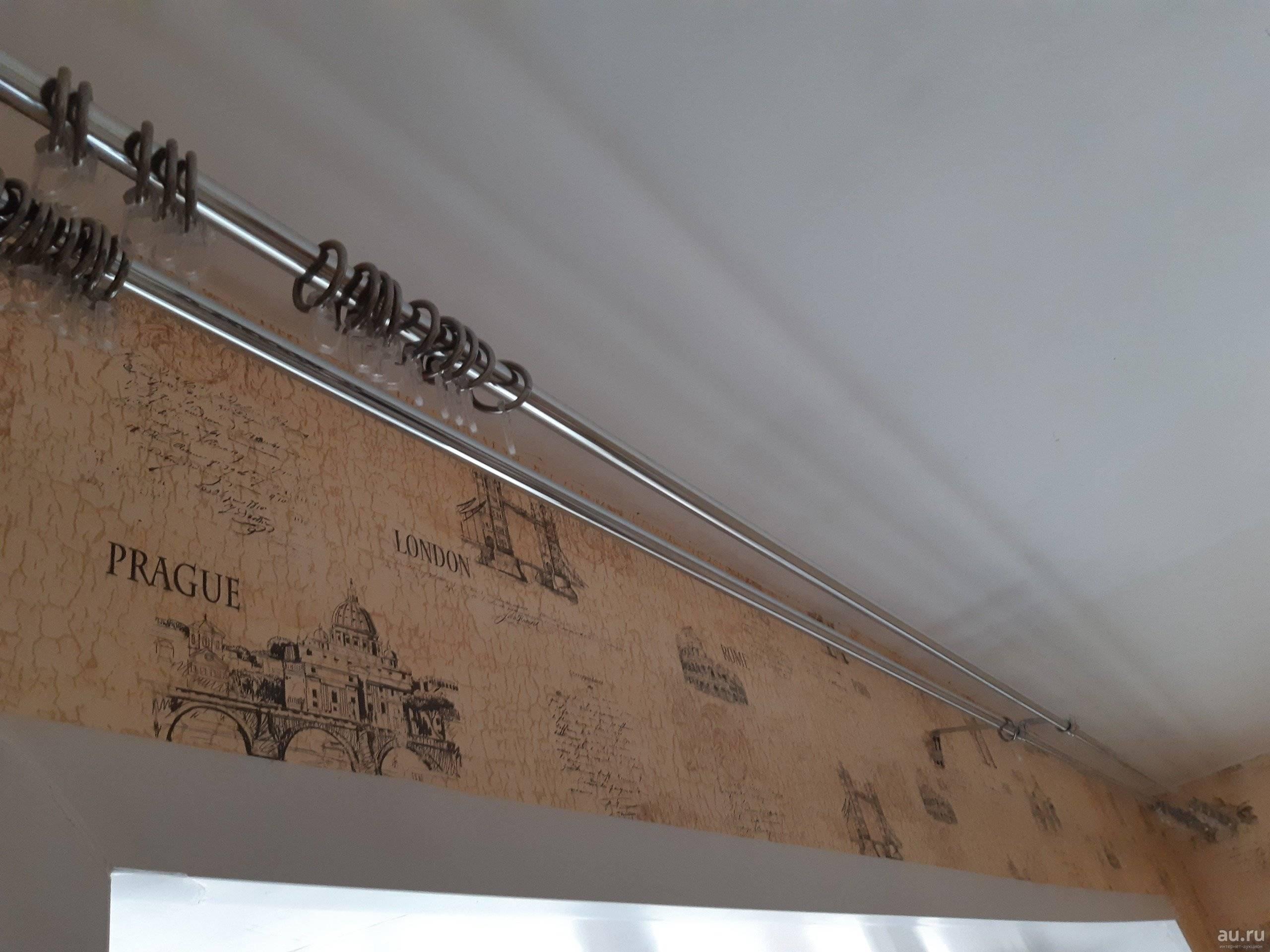Как повесить карниз для штор на стену, потолок, фото, видео
