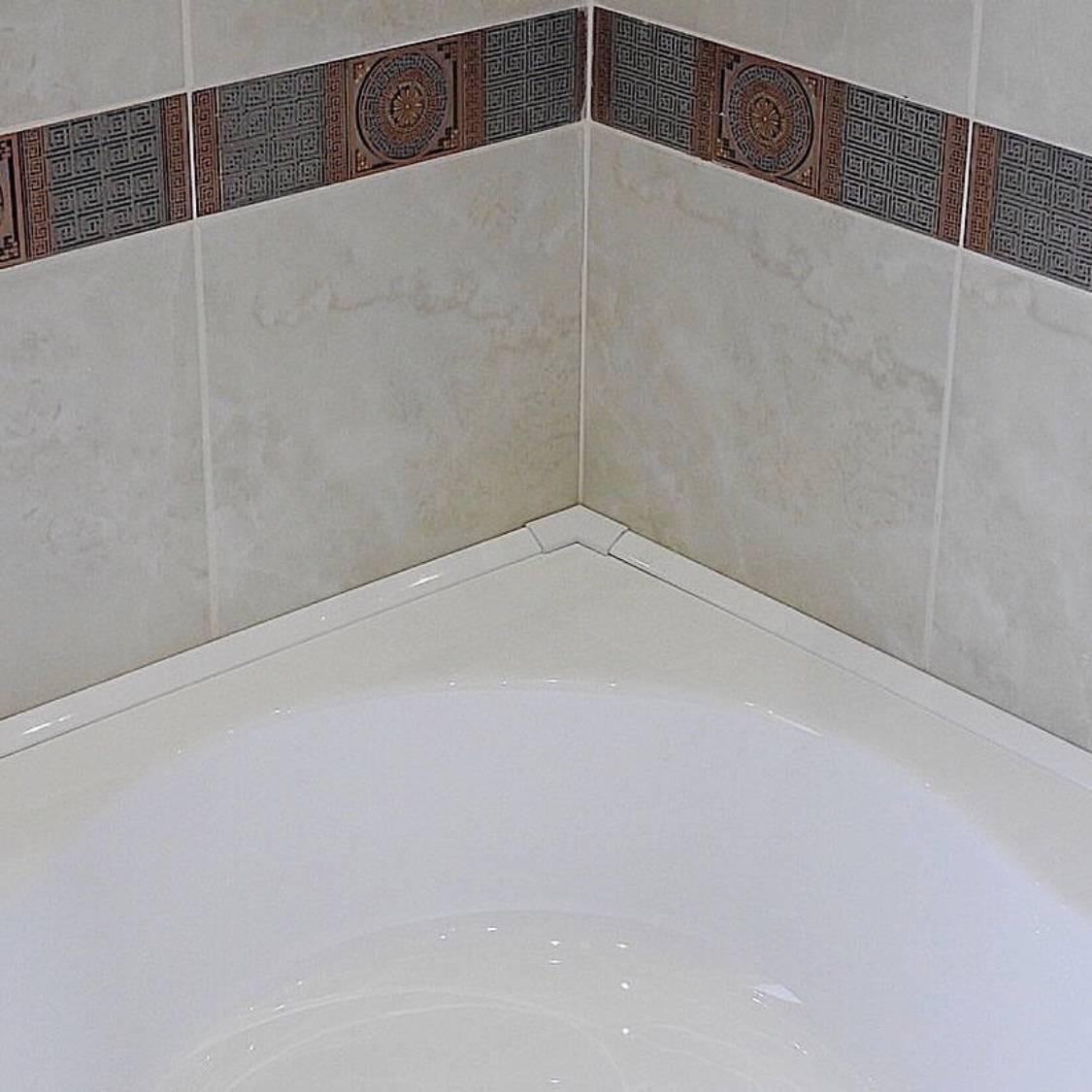 Бордюр для ванны на плитку: пластиковый, керамический, установка своими руками (+ видео)