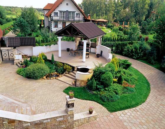 Дизайн двора частного дома: создаем уютное пространство | дизайн участка (огород.ru)