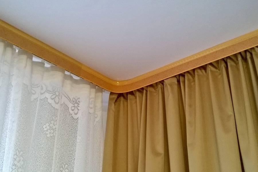 Гардины для штор под натяжной потолок - всё о ремонте потолка