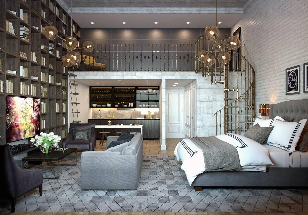Применение стиля лофт в интерьере однокомнатных квартир