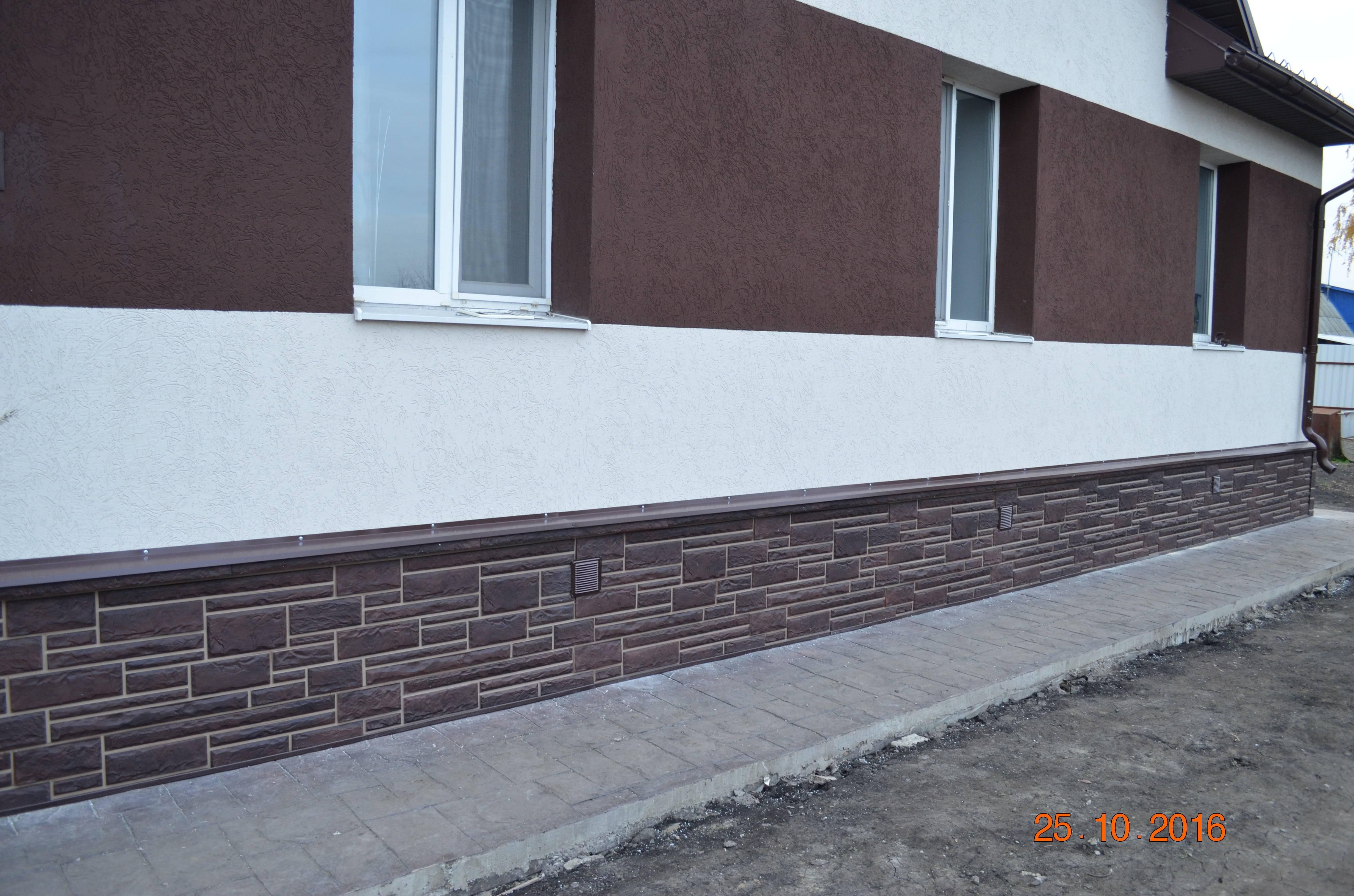 Декоративные панели для фундамента дома