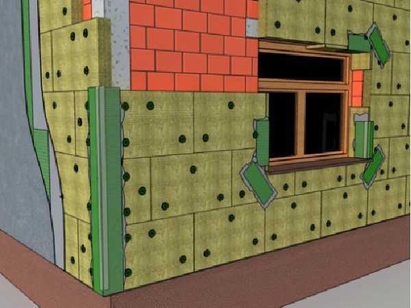Утепление фасада минеральной ватой под штукатурку – необходимые материалы и технология работ