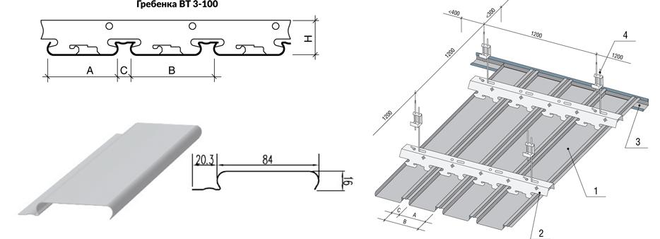 Монтаж реечного потолка: видео-инструкция, конструкция и преимущества, особенности установки
