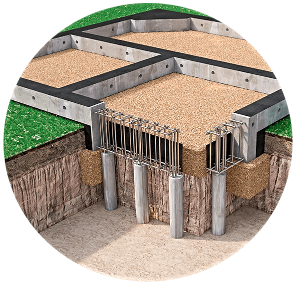 Свайно-ростверковый фундамент: конструктивные особенности и технология монтажных работ