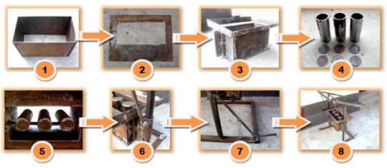 Изготовление шлакоблоков своими руками в домашних условиях пропорции