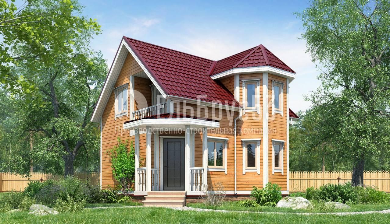 Дом из бруса с эркером: проекты, фото, мансарда, балкон