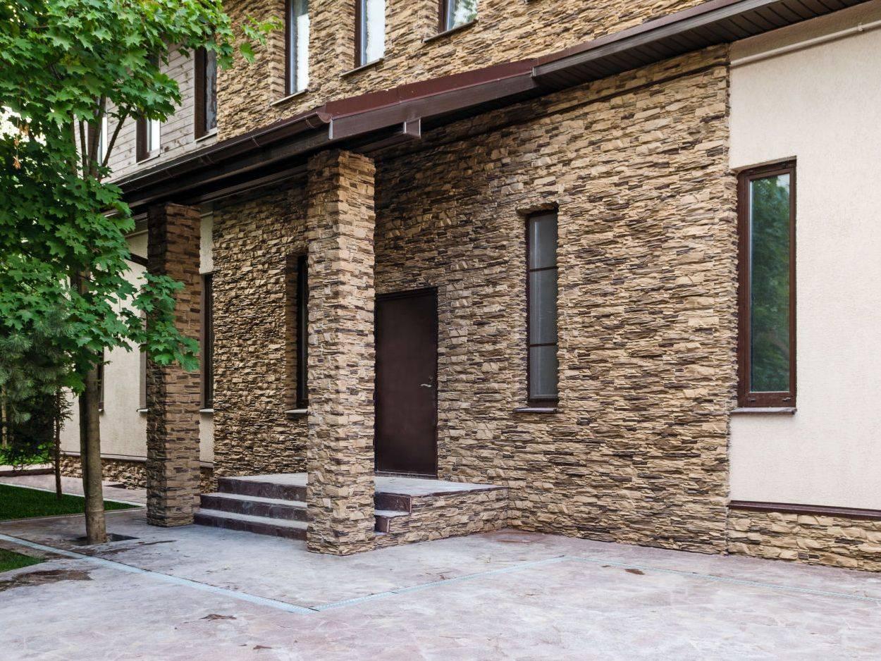 Что представляет из себя натуральный камень для облицовки фасада + технология отделки каждого элемента