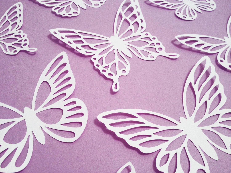 Яркие идеи по созданию оригинальных трафаретов бабочек из разных материалов