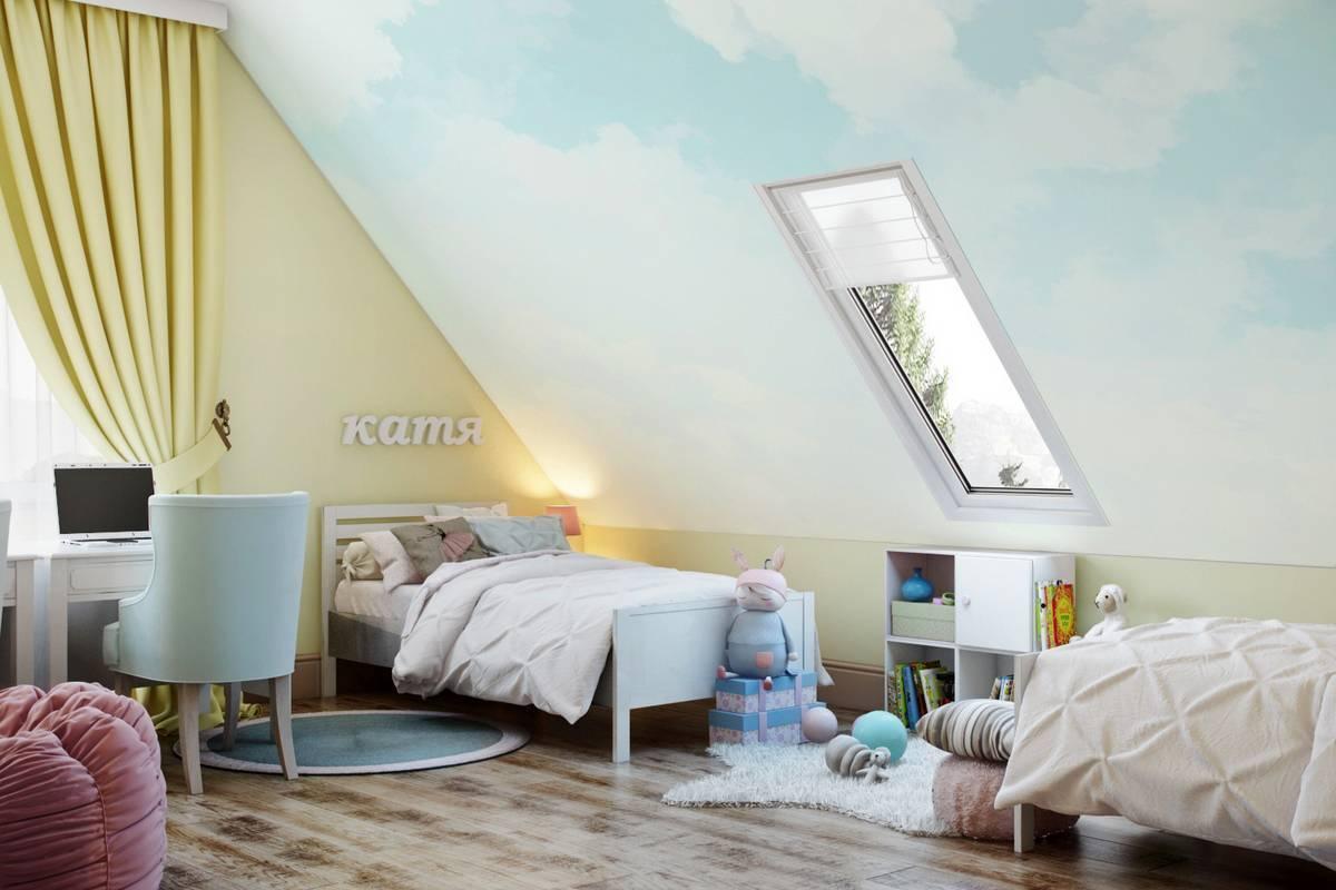 Спальня на мансарде: дизайн интерьера (14 фото)