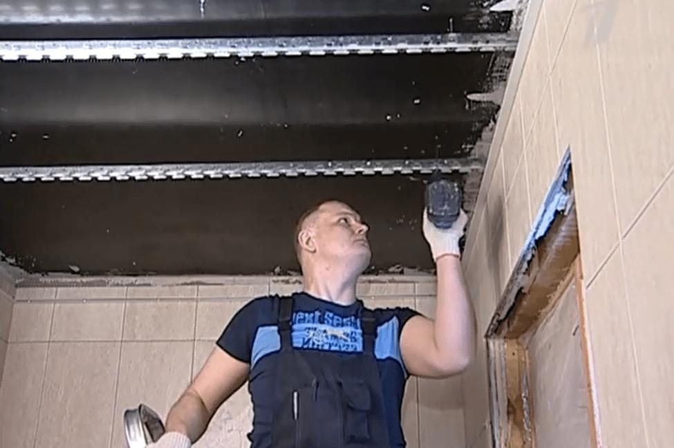Реечный подвесной потолок: видео-инструкция как установить или разобрать своими руками металлический подвес албес, фото