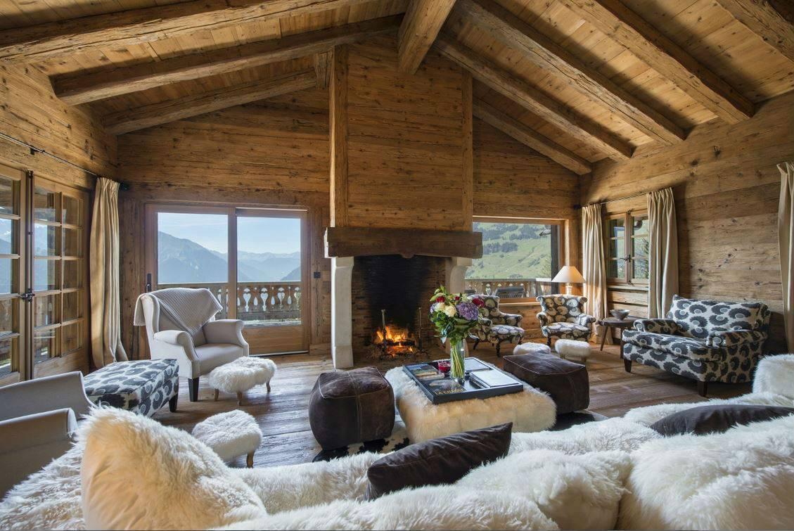 Интерьер дома из оцилиндрованного бревна: идеи и советы дизайнера