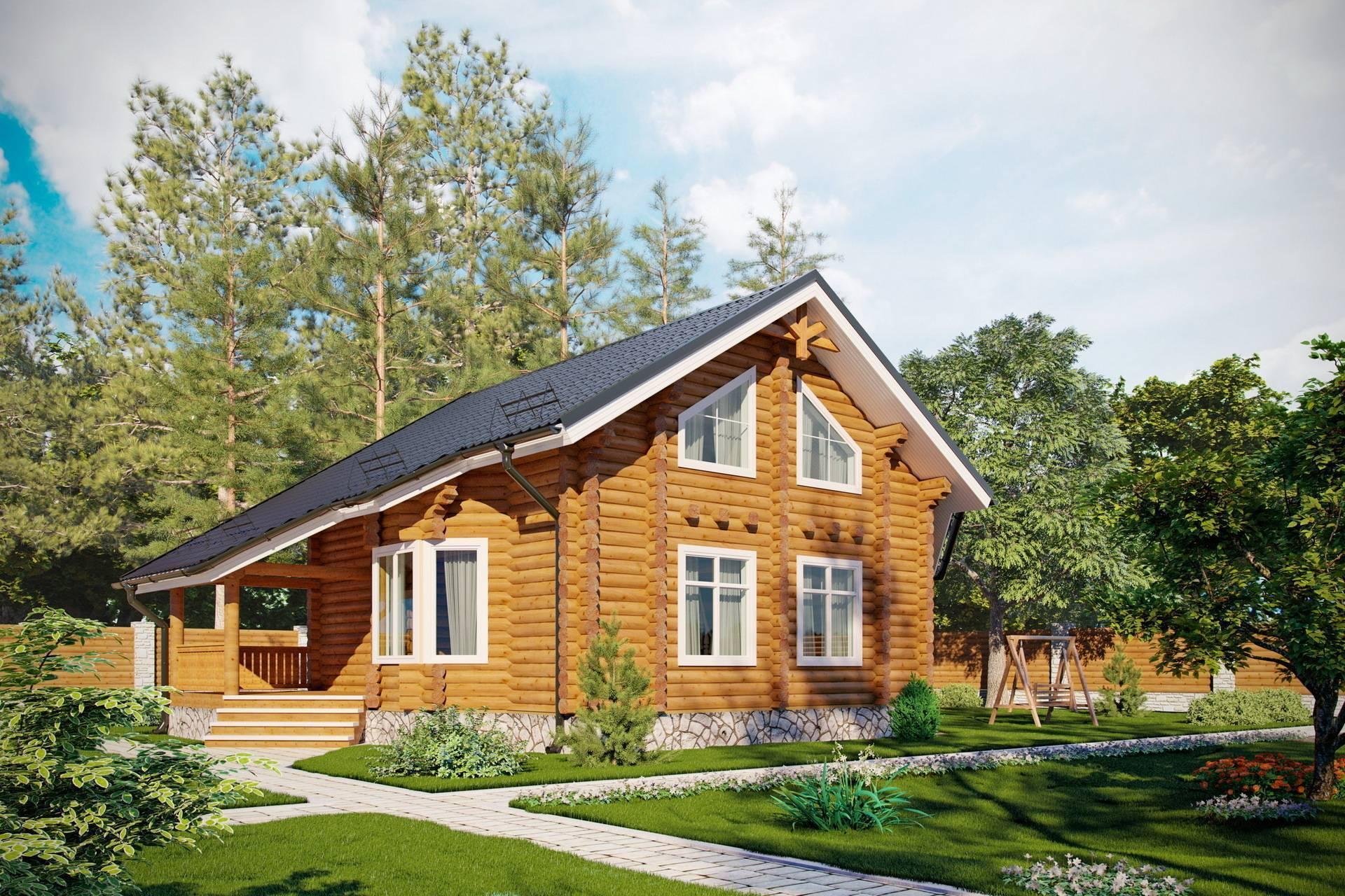 Дома из бревна с мансардой: виды и преимущества. проекты деревянных домов с мансардой