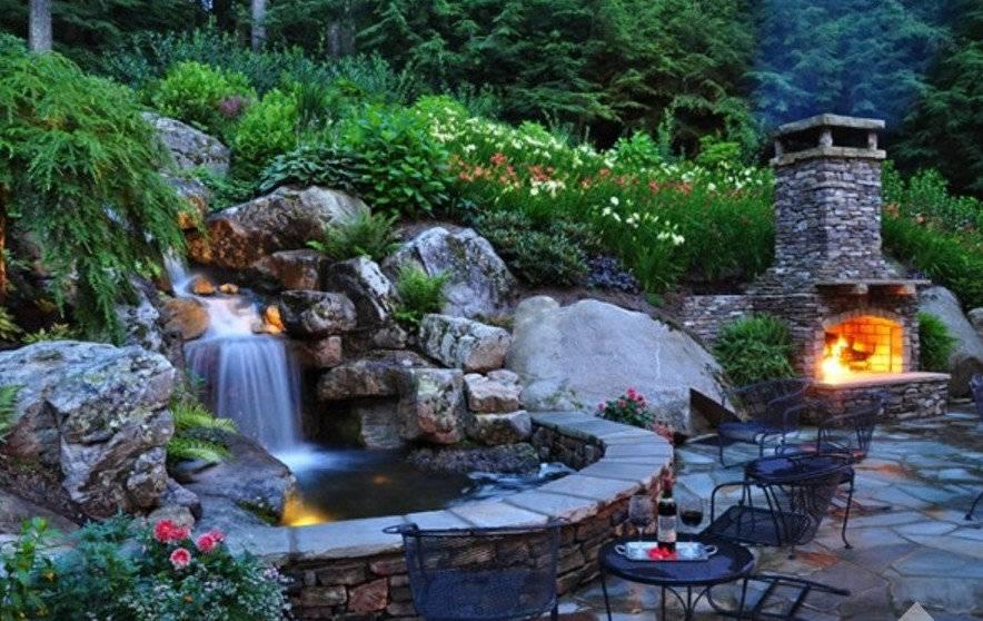 Как сделать водопад на даче своими руками: фото, пошаговая инструкция